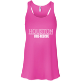 Houston Fire Rescue t shirt mockup - Style B8800 Bella + Canvas Flowy Racerback Tank - Color Neon Pink