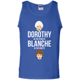 Dorothy In The Streets Blanche In The Sheets t shirt mockup - Style G220 Gildan 100% Cotton Tank Top - Color Royal