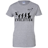 Duck Hunting Evolution t shirt mockup - Style G200L Gildan Ladies' 100% Cotton T-Shirt - Color Sport Grey