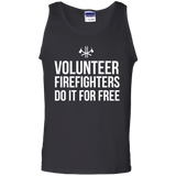 Volunteer Firefighters - Do It For Free t shirt mockup - Style G220 Gildan 100% Cotton Tank Top - Color Black
