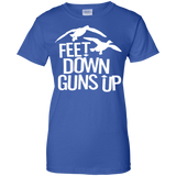 Feet Down Guns Up - Duck Hunting t shirt mockup - Style G200L Gildan Ladies' 100% Cotton T-Shirt - Color Royal