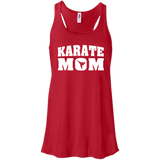Karate Mom t shirt mockup - Style Bella+Canvas Flowy Racerback Tank - Color Red