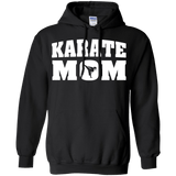 Karate Mom t shirt mockup - Style Pullover Hoodie 8 oz - Color Black