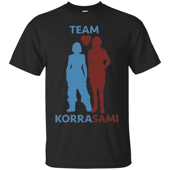 Korrasami t shirt mockup - Style G200 Gildan Ultra Cotton T-Shirt - Color Black