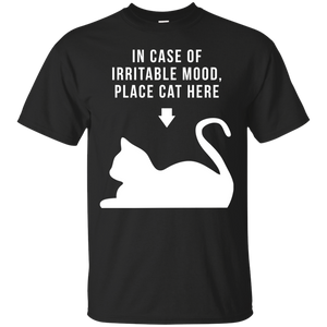 Place Cat Here t shirt mockup - Style G200 Gildan Ultra Cotton T-Shirt - Color Black