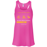 BJJ Skills Loading t shirt mockup - Style Bella+Canvas Flowy Racerback Tank - Color Neon Pink