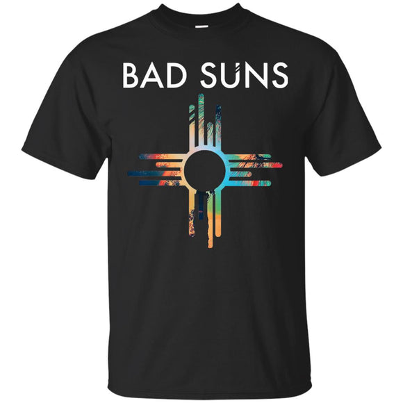 Bad Suns t shirt mockup - Style G200 Gildan Ultra Cotton T-Shirt - Color Black