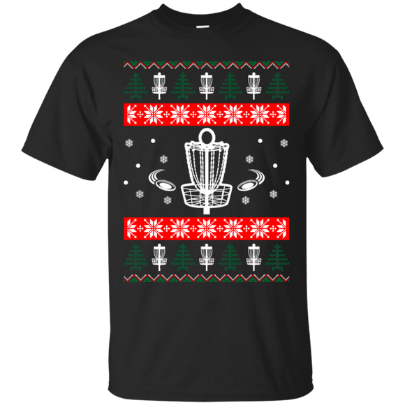 Ugly Xmas Disc Golf T-shirt