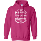 Disnerd t shirt mockup - Style G185 Gildan Pullover Hoodie 8 oz. - Color Heliconia