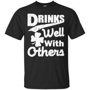 Drinks Well With Others t shirt mockup - Style G200 Gildan Ultra Cotton T-Shirt - Color Black
