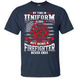 Firefighter Retired t shirt mockup - Style G200 Gildan Ultra Cotton T-Shirt - Color Navy