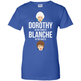 Dorothy In The Streets Blanche In The Sheets t shirt mockup - Style G200L Gildan Ladies' 100% Cotton T-Shirt - Color Royal