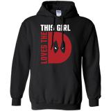 This Girl Loves The D Deadpool t shirt mockup - Style G185 Gildan Pullover Hoodie 8 oz. - Color Black