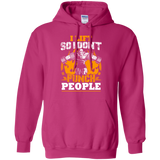 I Lift So I Don't Punch People t shirt mockup - Style G185 Gildan Pullover Hoodie 8 oz. - Color Heliconia