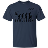 Duck Hunting Evolution t shirt mockup - Style G200 Gildan Ultra Cotton T-Shirt - Color Navy