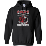 I Became A Firefighter t shirt mockup - Style G185 Gildan Pullover Hoodie 8 oz. - Color Black