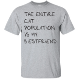 The entire cat population is my best friend t shirt mockup - Style G200 Gildan Ultra Cotton T-Shirt - Color Sport Grey