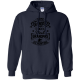 Real Grandpas Go Hunting t shirt mockup - Style G185 Gildan Pullover Hoodie 8 oz. - Color Navy