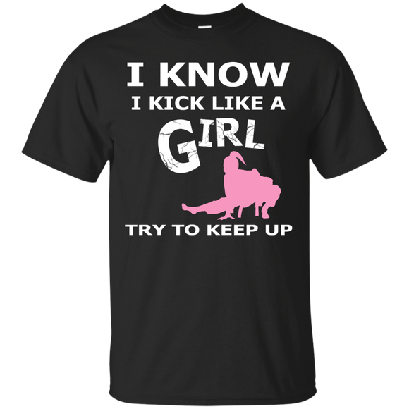 Jiu Jitsu Girl t shirt mockup - Style Custom Ultra Cotton T-Shirt - Color Black