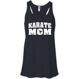 Karate Mom t shirt mockup - Style Bella+Canvas Flowy Racerback Tank - Color Midnight