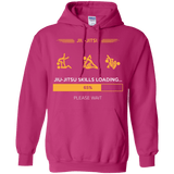 BJJ Skills Loading t shirt mockup - Style Pullover Hoodie 8 oz - Color Heliconia