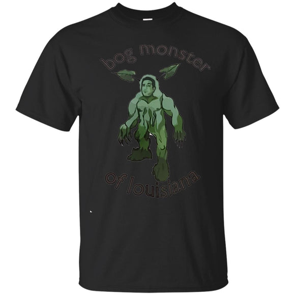 Bog Monster Of Louisiana t shirt mockup - Style G200 Gildan Ultra Cotton T-Shirt - Color Black
