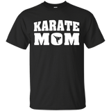 Karate Mom t shirt mockup - Style Custom Ultra Cotton T-Shirt - Color Black