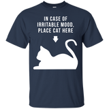 Place Cat Here t shirt mockup - Style G200 Gildan Ultra Cotton T-Shirt - Color Navy