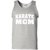 Karate Mom t shirt mockup - Style 100% Cotton Tank Top - Color Ash