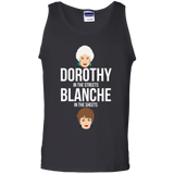 Dorothy In The Streets Blanche In The Sheets t shirt mockup - Style G220 Gildan 100% Cotton Tank Top - Color Black