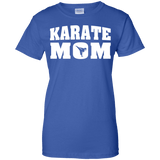 Karate Mom t shirt mockup - Style Ladies Custom 100% Cotton T-Shirt - Color Royal