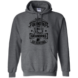 Real Grandpas Go Hunting t shirt mockup - Style G185 Gildan Pullover Hoodie 8 oz. - Color Dark Heather