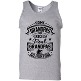 Real Grandpas Go Hunting t shirt mockup - Style G220 Gildan 100% Cotton Tank Top - Color Sport Grey