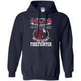 I Became A Firefighter t shirt mockup - Style G185 Gildan Pullover Hoodie 8 oz. - Color Navy