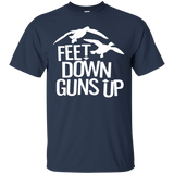 Feet Down Guns Up - Duck Hunting t shirt mockup - Style G200 Gildan Ultra Cotton T-Shirt - Color Navy