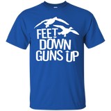 Feet Down Guns Up - Duck Hunting t shirt mockup - Style G200 Gildan Ultra Cotton T-Shirt - Color Royal