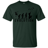 Duck Hunting Evolution t shirt mockup - Style G200 Gildan Ultra Cotton T-Shirt - Color Forest Green