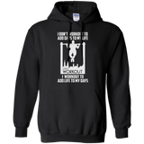 I Workout To Add Life To My Days t shirt mockup - Style G185 Gildan Pullover Hoodie 8 oz. - Color Black