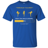 Muay Thai Skills Loading t shirt mockup - Style Custom Ultra Cotton T-Shirt - Color Royal