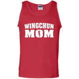 Wing Chun Mom t shirt mockup - Style 100% Cotton Tank Top - Color Red