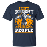 I Lift So I Don't Punch People t shirt mockup - Style G200 Gildan Ultra Cotton T-Shirt - Color Navy