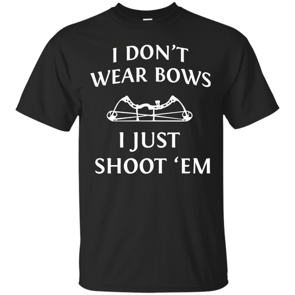 I Just Shoot 'Em - Hunting t shirt mockup - Style Custom Ultra Cotton T-Shirt - Color Black
