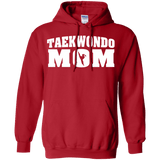 Taekwondo Mom t shirt mockup - Style Pullover Hoodie 8 oz - Color Red