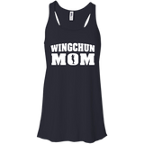Wing Chun Mom t shirt mockup - Style Bella+Canvas Flowy Racerback Tank - Color Midnight