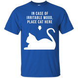 Place Cat Here t shirt mockup - Style G200 Gildan Ultra Cotton T-Shirt - Color Royal