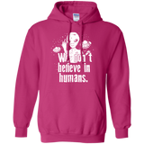 Alien Believe t shirt mockup - Style G185 Gildan Pullover Hoodie 8 oz. - Color Heliconia