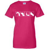 Wing Chun Hand Skills t shirt mockup - Style Ladies Custom 100% Cotton T-Shirt - Color Heliconia
