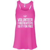 Volunteer Firefighters - Do It For Free t shirt mockup - Style B8800 Bella + Canvas Flowy Racerback Tank - Color Neon Pink