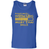 Installing Muay Thai Skills t shirt mockup - Style 100% Cotton Tank Top - Color Royal