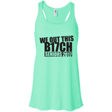We Out This B17ch t shirt mockup - Style B8800 Bella + Canvas Flowy Racerback Tank - Color Mint